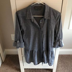 Anthropologie denim blouse
